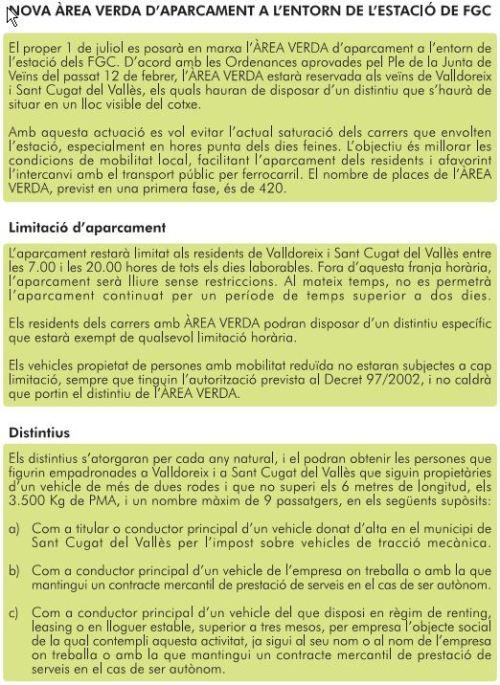 Info EMD Area verda (1/3)