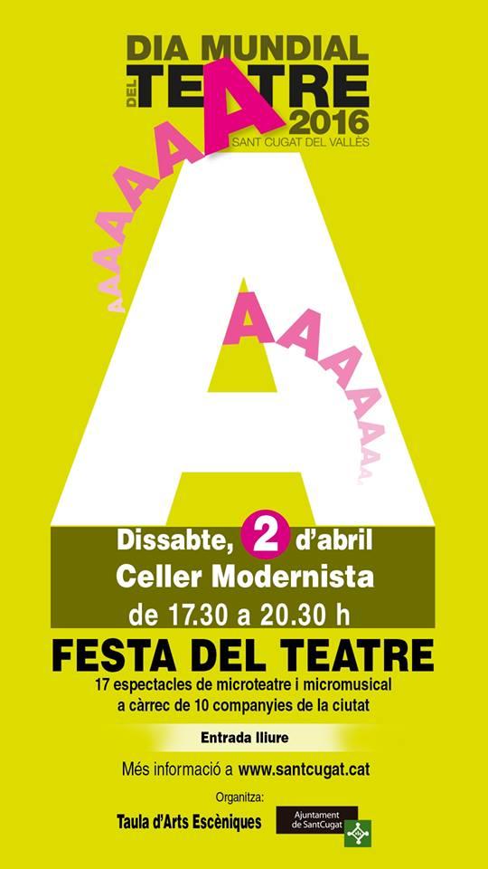 Cartell Dia Mundial del Teatre Sant Cugat